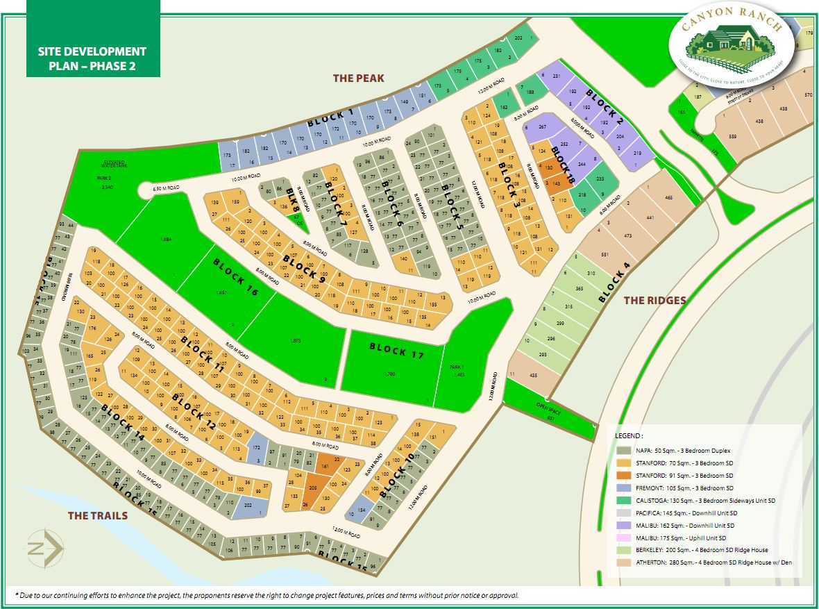 Real Estate Home Lot Sale At Canyon Ranch Site Development Plans