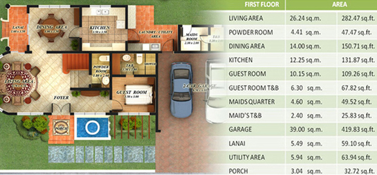 Minglanilla cebu real estate home lot for sale at fonte di versailles by paramount property for Filipino house design with floor plan