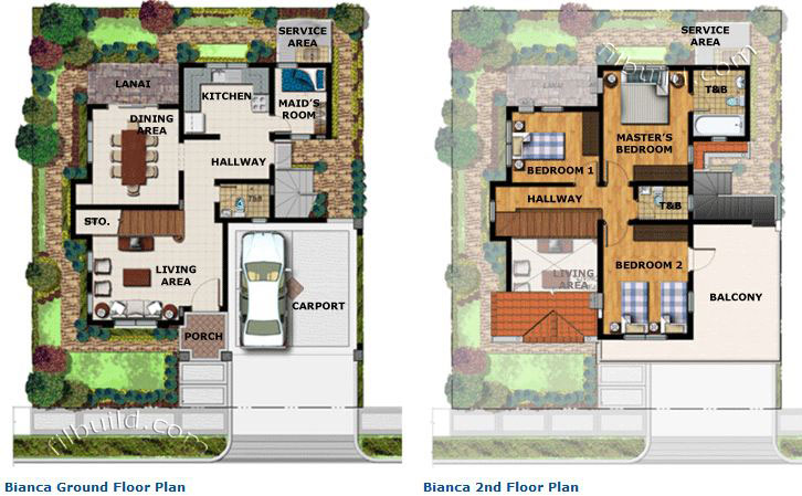 San pedro laguna real estate home lot for sale at the for Single detached house floor plan