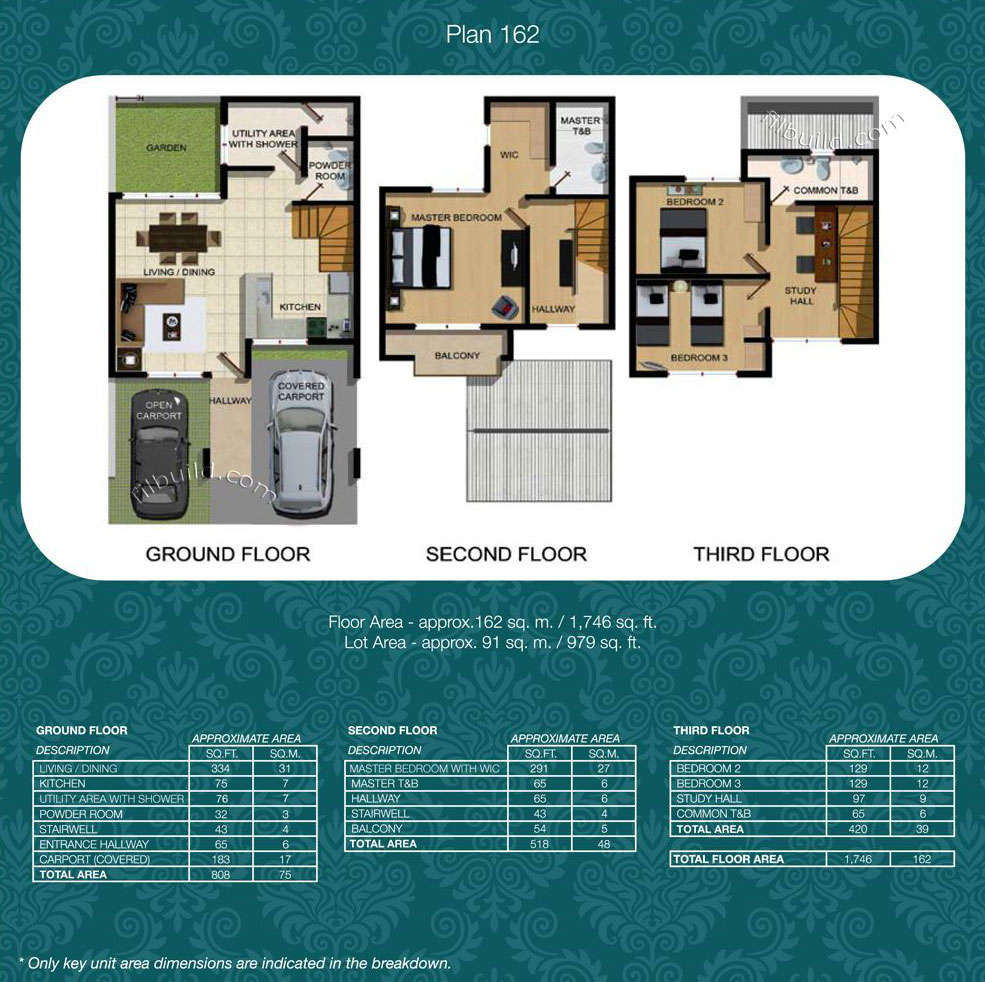 Pasig city metro manila real estate townhomes for sale at for 162 plan