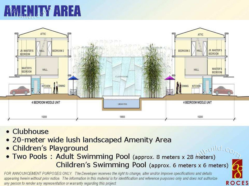 Real estate home lot sale at amenity area