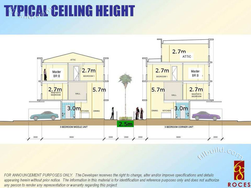 Typical_ceiling_height on 3 Bedroom House Plan With Garage