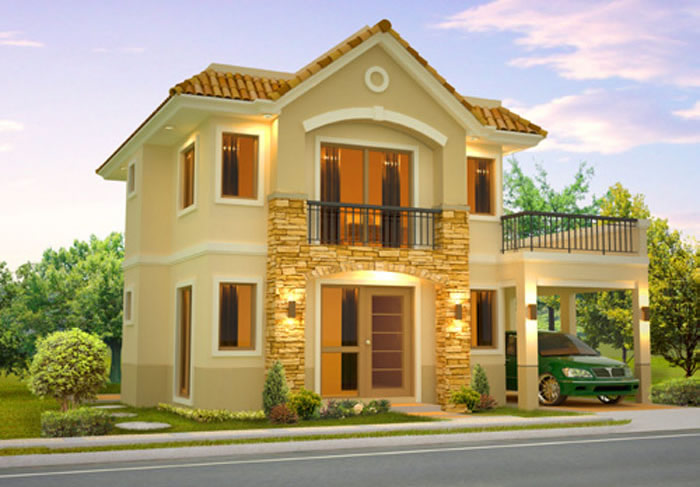 House design philippines 2 storey two storey house design for Small house exterior design philippines