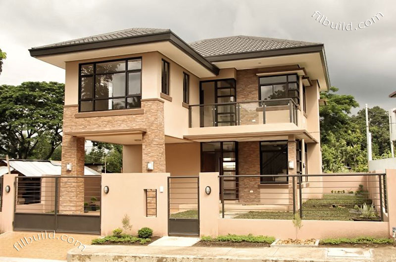 Real estate davao two 2 storey house naomi model for sale for Two storey house design philippines