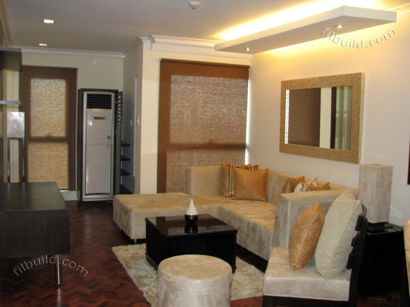 Real estate fully furnished 2 bedroom condo for sale at - Small space living room designs philippines ...