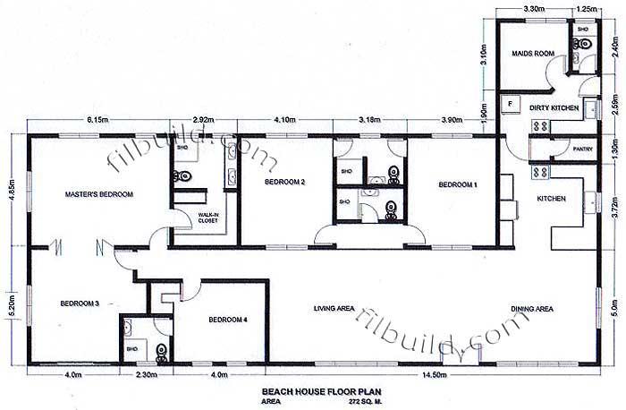 Floor plans oceanfront homes for Oceanfront home plans